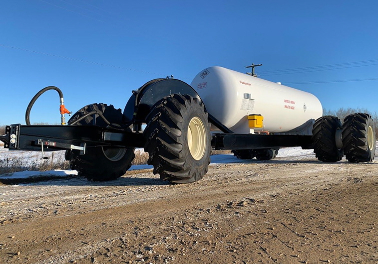 Foremost's first Anhydrous Ammonia Nurse Wagon built by Foremost, Lloydminster, AB