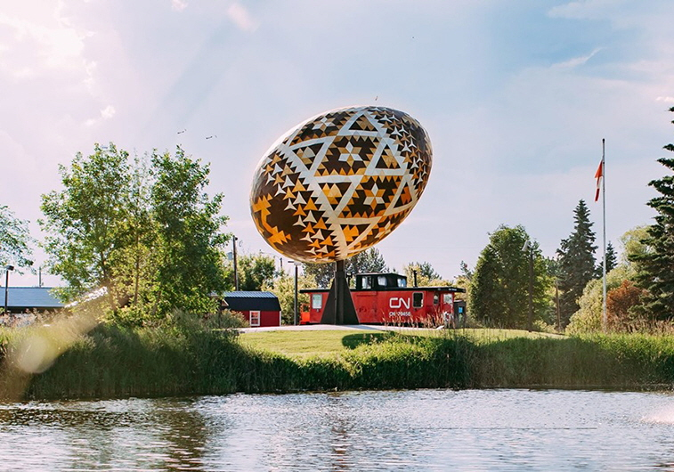 The Pysanka in Vegreville, Alberta