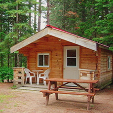 Cabin in the Pines at Algonquin Pines Campground, Dwight, Ontario
