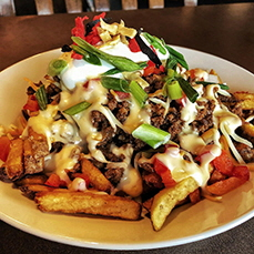 Taco beef fries from Casey's Grill Bar, Kenora, Ontario