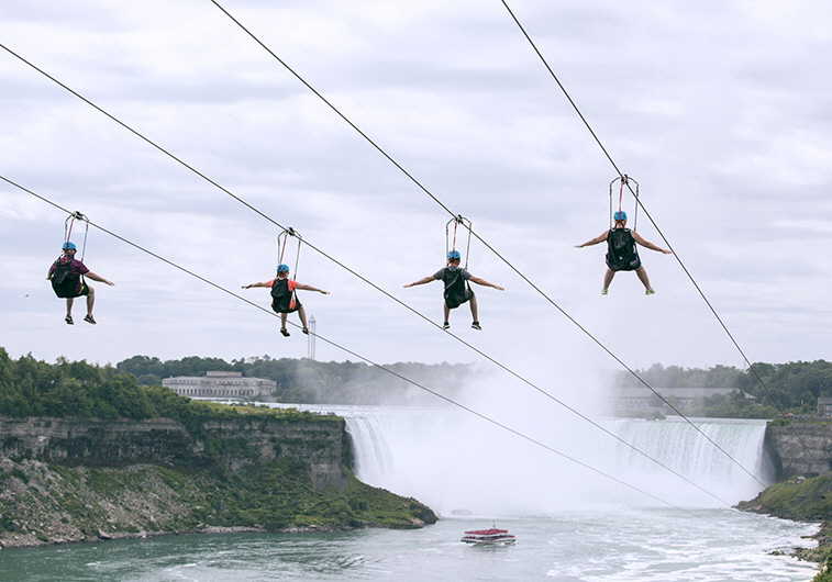 WildPlay ziplining at Niagara Falls | Photo: Niagara Parks