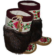 Canadian Moosehide Mukluks from Acho Dene Native Crafts in Fort Liard, NT