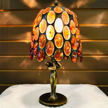 17cm high amber lamp from The Amber Room, Kingston, Ontario