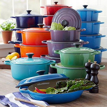 Le Creuset pots and pans from Consiglio's Kitchenware & Gifts, Toronto, Ontario