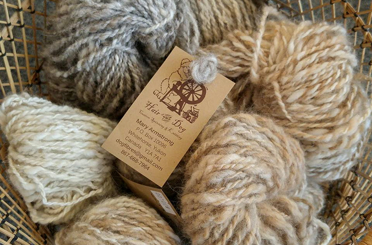 Hair of the dog yarn available from the Itsy-Bitsy Yarn Store in Whitehorse, YK
